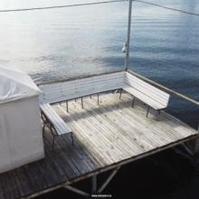 Шатры на пирсе с мангалом |  Уютно для компании из 6 — 12 человек